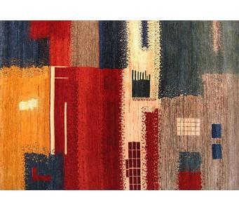 Gabbeh modernist,multi coloring 8x10