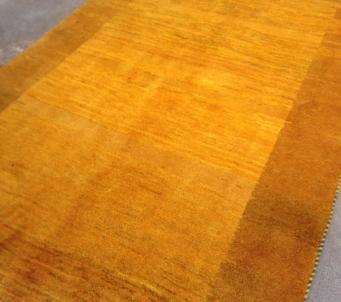 Modern Persian Gabbeh rug 4' x6' Gold colors- SOLD