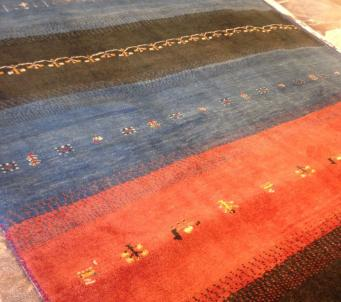 "Persian Kashkoli Gabbeh Rug 6'.7"" X 9'.6"" Thick Authentic Gabeh Knotted A+"