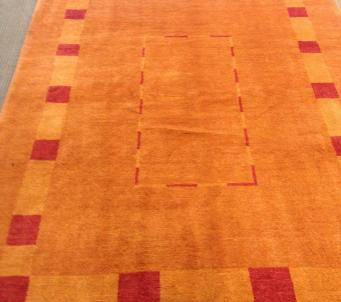 5' x7' Persian Thick Gabbeh rug Gold coloring