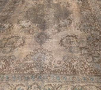 Vintage Persian gray 9 x12 rug
