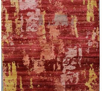 Colorfull Afghan 6 x9 rug with veg dye