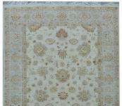 Peshawar muted 10'x13' rug , beige/blue