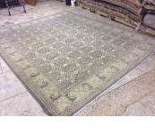 Peshawar off white light 9'x12' rug. Afghanistan