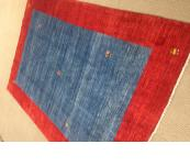 Blue with variation Thick nomadik Gabbeh rug 5' x8'