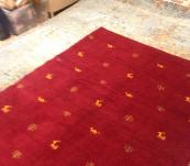 Persian tribal Thick Gabbeh Rug Red Iran Shiraz hand knotted 5' X 7' Authentic