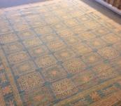 Peshawar Khotan rug 8' x10' blue-Gold